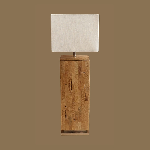 Mosaic Bamboo Root Lamp Thin