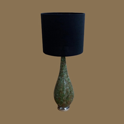 Chipped Glass Resin Lamp Brown Green Clear