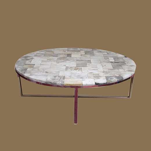 Mosaic (Oval) Coffee Table (Natural Colour)