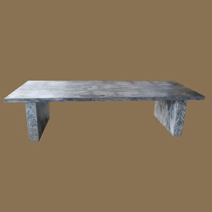 Petrified Wood Laminated Dining table with PW Laminated Base