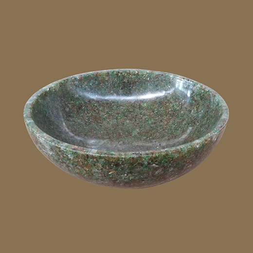 Chipped Glass Resin Bowl (Brown Green Clear Small Chunk)