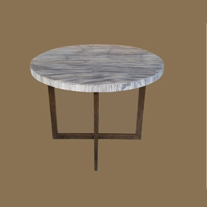 PW LAMINATED Dining  TABLE  on Iron Base