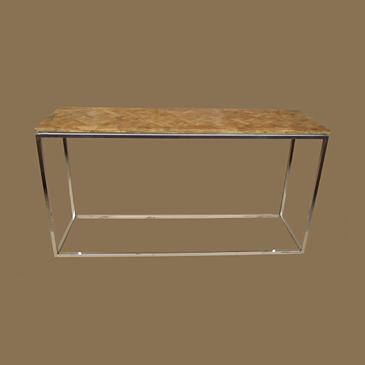 Bamboo Root Weave Console Table