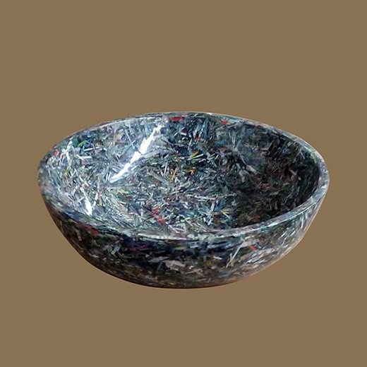 Upcycled Shreded Paper Resin Bowl (Upcycled Shreded Paper)