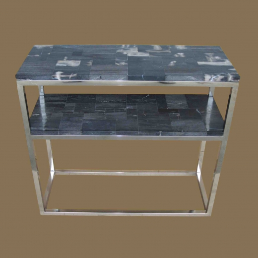 PW 2layer console with steel frame,Polished Mosaic