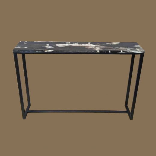 PW LAMINATED Console TABLE  on  Powder coated Iron base