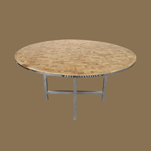 Bamboo Root Weave Dining Table (Round)