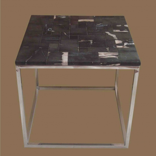 Mosaic side Table on Stainless Steel Base