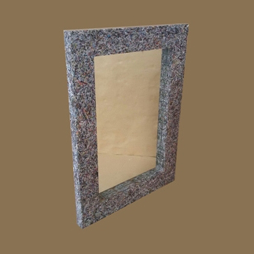 Shreded Paper Rectangular Mirror with Steel Edge
