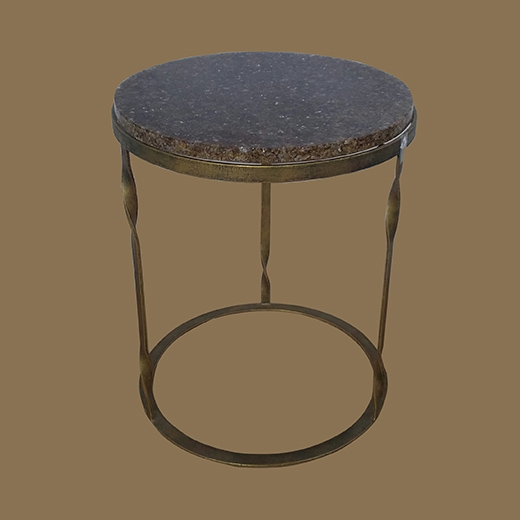 Chipped Glass Resin Side Table (Oval)