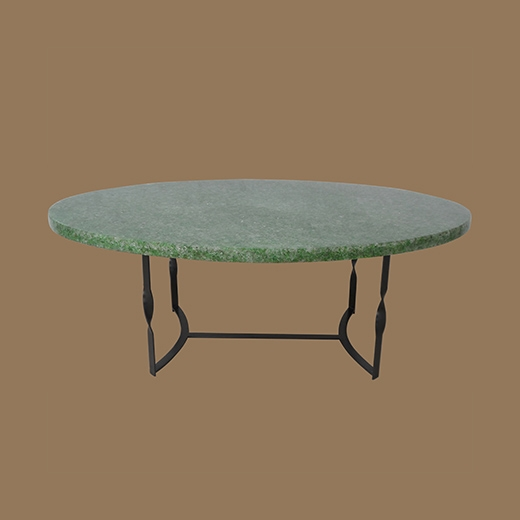Chipped Glass Resin (Oval Thick 3cm) Coffee Table Natural