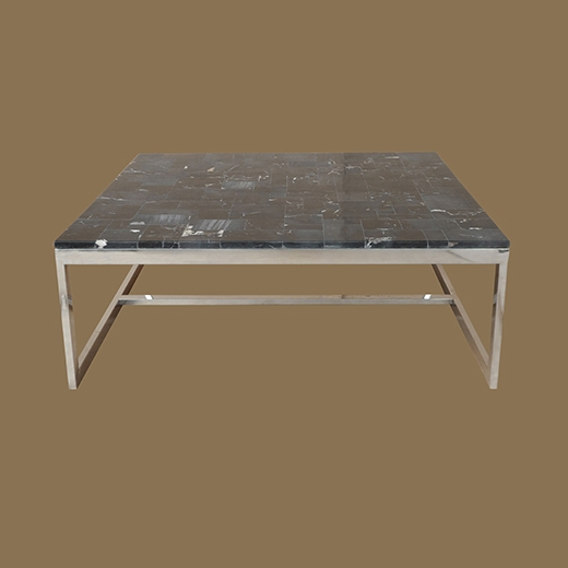 Mosaic Coffee Table on Stainless Steel Base