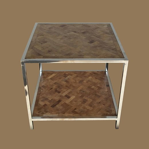 Bamboo Root Weave Side Table (2 Layers)